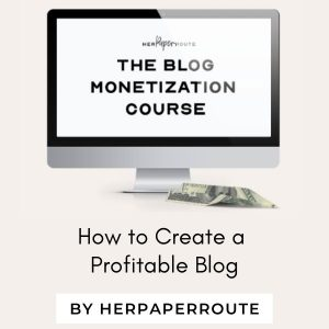 The Blog Monetization Course